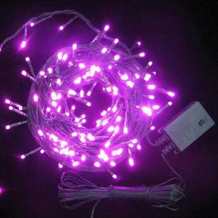 Гирлянда электрическая с супер-яркими лампами, 100 ламп, красные, 6.5 м гирлянда электрическая с супер яркими лампами 50 ламп синие 2 4 1 5 м