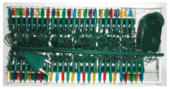 Гирлянда электрическая, 100 ламп, прозрачная, цветная, музыкальная, 3 мелодии, с контр, 5.35+1.5 м N11010 цена и фото