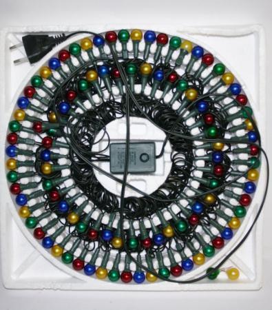 Гирлянда электрическая ромашка 100 ламп прозрачная цветная контроллер 6+1.5м N11030 цена и фото
