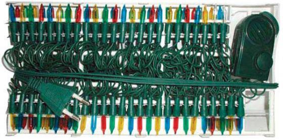 Гирлянда электрическая, 200 ламп, прозрачная, цветная, музыкальная, 3 мелодии, с контр, 10,5 + 1,5 м N11060 цена и фото