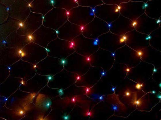 Гирлянда электрическая сетка-рис, 2,10 x 1,40, 320 ламп, цветная, с контроллером N11064 цена и фото