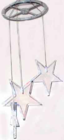 Гирлянда электрическая с супер-яркими лампами сосульки-звезды, 3 лампы, синие 11157