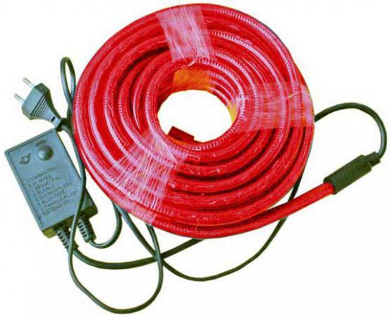 Гирлянда электр. дюралайт, 2 жилы, красный, круглое сечение, диаметр 13 мм, 9м, 216 ламп, с контрол N11104 гирлянда мигающая д улицы 9м 120led синий