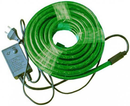 Гирлянда электр. дюралайт, 3 жилы, зеленый, круглое сечение, диаметр 13 мм, 9м, 216 ламп, с контрол цены онлайн