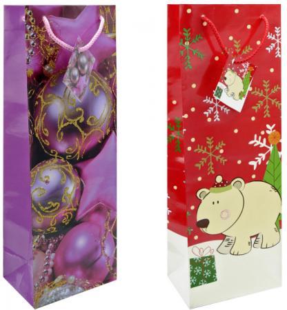 Пакет подарочный бумажный ламинированный, 360х130х85 мм, с блестящей крошкой|1 пакет подарочный бумажный r31017