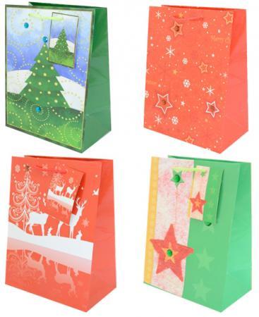 Пакет подарочный Winter Wings N13370 229х178х98 мм в ассортименте пакет подарочный бумажный s1511 с днем рождения 3 вида 32x26x13 см в ассортименте