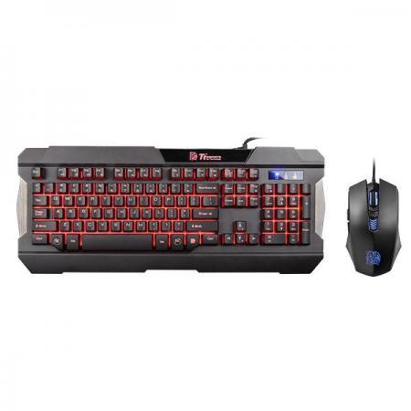 Клавиатура проводная Thermaltake eSPORTS Commander Combo Multi backlit USB черный набор tt esports commander combo kb ccm plblru 01