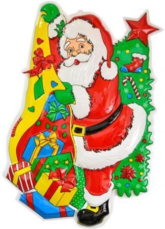 цены Панно Winter Wings Дед Мороз с елкой N09085 71x48 см
