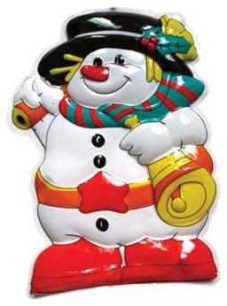 Новогоднее панно Winter Wings N09086 49х35 см в ассортименте (Снеговик, Дед Мороз) новогоднее панно winter wings снеговик с ёлкой 80х43 см n09136