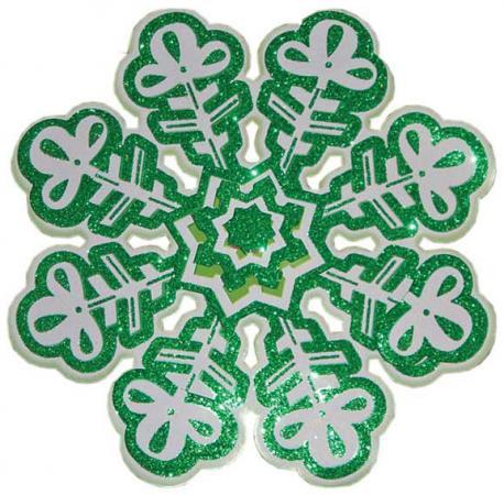 Новогоднее панно Winter Wings Снежинка 30х30 см N09105 новогоднее панно winter wings снеговик с ёлкой 80х43 см n09136