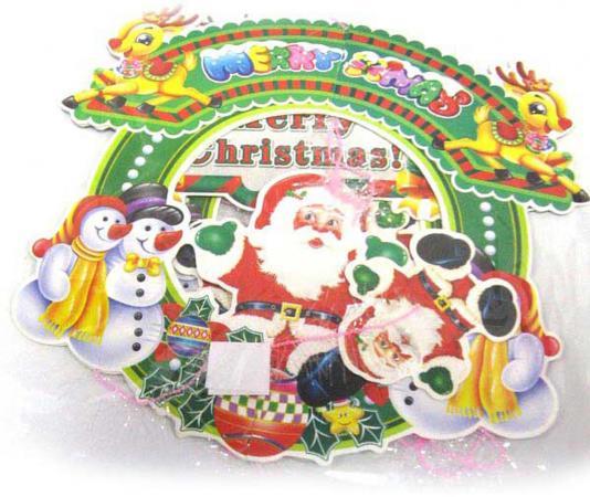 Украшение новогоднее подвеска декоративная, 25 см, картон, ПВХ|3 подвеска silver wings цвет белый