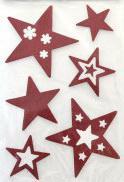 Наклейка Winter Wings панно Звездочки, прозрачная, цветная с блестящей крошкой 20х30 см N09222 наклейка