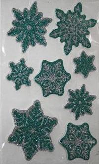 Наклейка Winter Wings панно Снежники, прозрачная цветная с блестящей крошкой 20х30 см N09224 цена