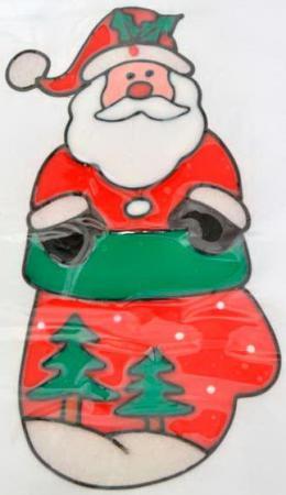 Наклейка Winter Wings Дед мороз с елкой 22x26 см наклейка