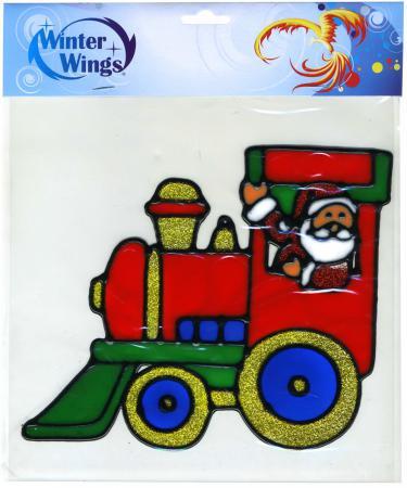 Наклейка Winter Wings Дед мороз в паровозе 20 см наклейка