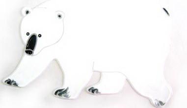 Наклейка Winter Wings Белый медведь 20 см dunlop sp winter ice 02 205 65 r15 94t