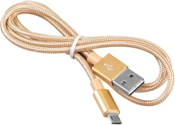 купить Кабель microUSB 1м BURO Reversible Braided BHP круглый золотистый USB2.0 375167 дешево
