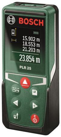 Дальномер Bosch PLR 25 25 м 0603672521 дальномер bosch plr 50 c 50 м 603672220