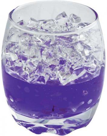 Подсвечник Winter Wings Льдинки, с гелевым наполнителем, фиолетовый 6.5х6.5х8 см N160959 от Just.ru