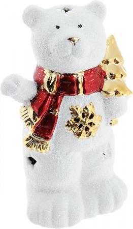 Подсвечник Winter Wings Мишка с елкой, керамика, светящийся 13 см N161686 новогодний шарик с елкой