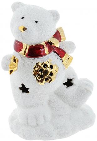 Подсвечник Winter Wings Мишка со звездочкой, светящийся, керамика 12 см N161691 подсвечник лось пингвин и мишка 13 см