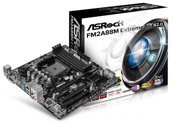 все цены на  Материнская плата ASRock FM2A88M Extreme4+ R2.0 Socket FM2+ AMD A88X 4xDDR3 2xPCI-E 16x 1xPCI-E 1x 8xSATAIII mATX Retail  онлайн