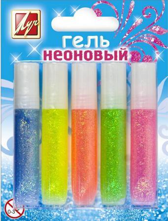 Гель художественный ЛУЧ НЕОНОВЫЙ 5 цветов 12С886-08