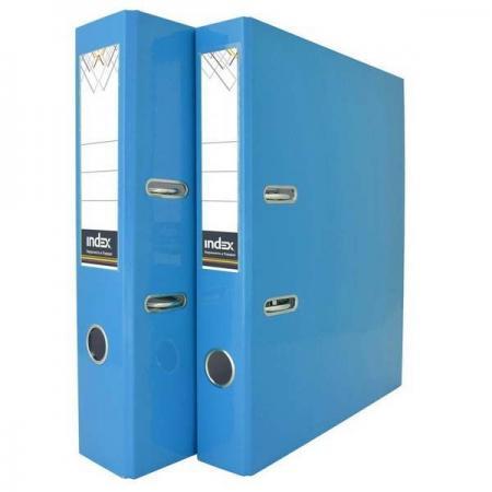 Папка-регистратор COLOURPLAY, 80 мм, ламинированная, неоновая голубая IND 8 LA BU папка регистратор 80 мм ламинированная серая 2