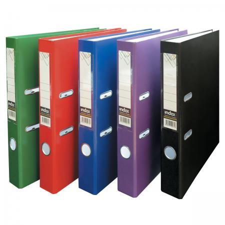 Папка-регистратор из ламинированного картона, 50 мм, А4, черная папка регистратор из ламинированного картона 50 мм а4 черная ind 5la bl ds