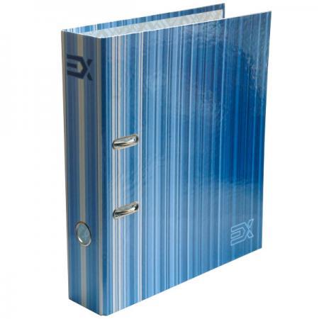Папка-регистратор с принтом EXTRA, из ламинированного картона, 80 мм, А4, синяя папка proff а4 60 карманов синяя