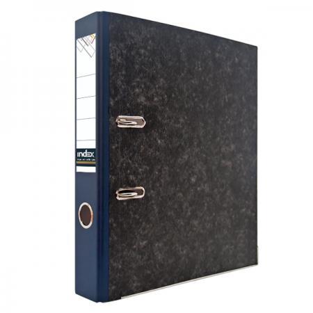 Папка-регистратор под мрамор, 50 мм, А4, корешок синий