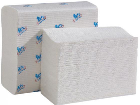 Полотенца бумажные НРБ, Z-укл. в пачке, 2-сл., супербелые, 22х22 см, 150 л. полотенца horeca select бумажные однослойные 250 л