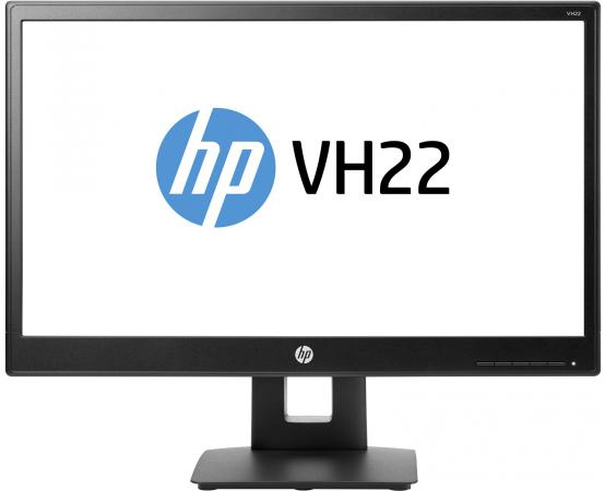 Монитор 21.5 HP VH22 черный TN 1920x1080 250 cd/m^2 5 ms DVI VGA DisplayPort X0N05AA монитор 21 5 asus ve228tlb черный tft tn 1920x1080 250 cd m^2 5 ms dvi vga аудио usb