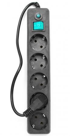 все цены на Сетевой фильтр Гарнизон EHLB-4 5 розеток 0.5 м черный онлайн