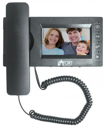 Комплект видеодомофон + вызывная панель FORT Automatics С0408HF violet 0408