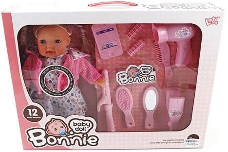 Кукла Shantou Gepai Bonnie с набором стилиста 30 см со звуком LD9905G элемент питания airline cr2032 01