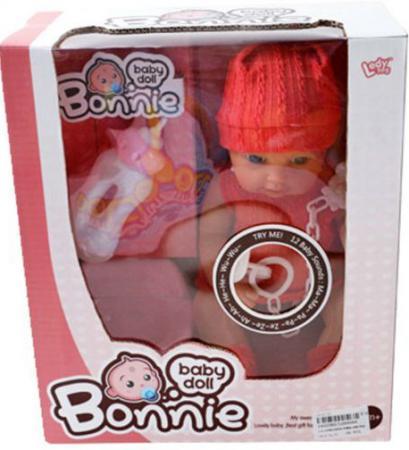 Пупс Shantou Gepai Bonnie 30 см со звуком с аксессуарами LD9908A пупс shantou gepai любимая кукла 30 см со звуком ld9913f