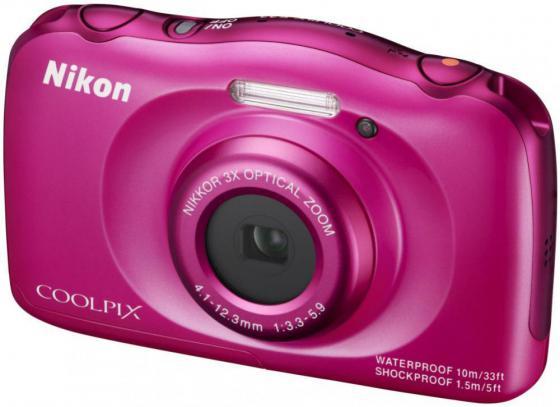 Фотоаппарат Nikon Coolpix W100 13.2Mp 3x Zoom розовый