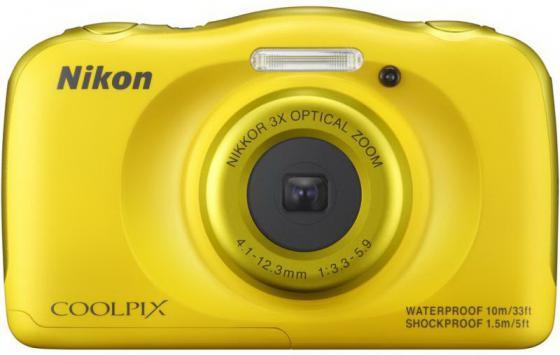 Фотоаппарат Nikon Coolpix W100 13.2Mp 3x Zoom желтый