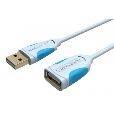 Кабель удлинительный USB 2.0 AM-AF 2.0м Vention VAS-A05-S200 серый vention usb к ps2 адаптер для клавиатуры мыши vas c03 s