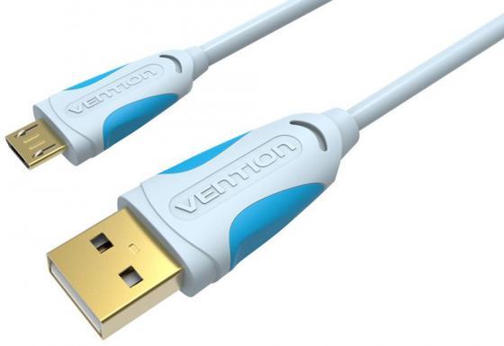 Кабель microUSB 2м Vention круглый VAS-A04-S200 кабель partner usb 2 0 microusb 2 1а 0 2м