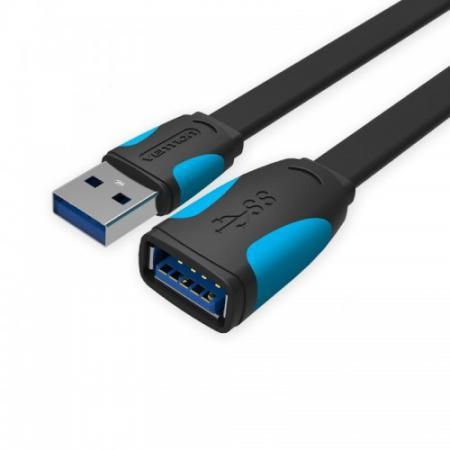 Кабель удлинительный USB 3.0 AM-AF 3.0м Vention VAS-A13-B300 плоский