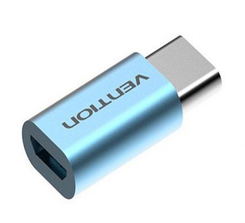 Переходник USB С(m)-microUSB B Vention VAS-S10-S голубой vention usb к ps2 адаптер для клавиатуры мыши vas c03 s