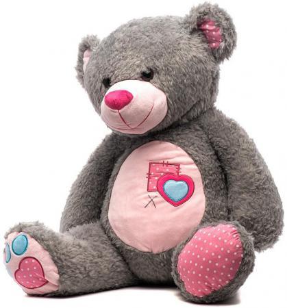 Мягкая игрушка медведь Fluffy Family Тошка 80 см серый плюш guipure lace yoke keyhole back top