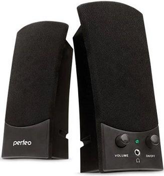 Колонки Perfeo Uno PF-210 2x3 Вт USB черный цена и фото