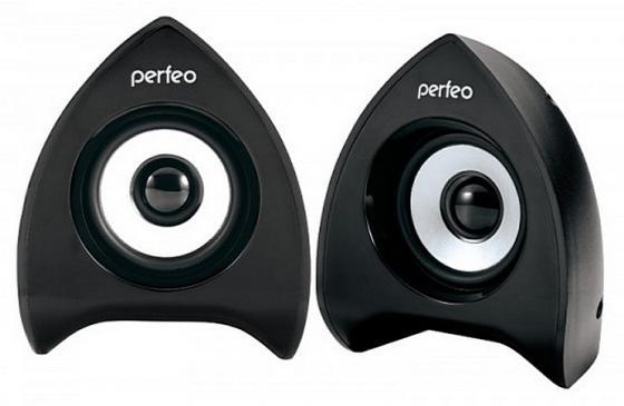Колонки Perfeo Focus PF-233 2x3 Вт USB черный цена и фото