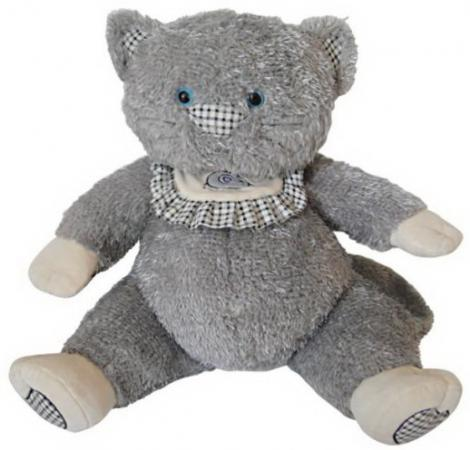 Мягкая игрушка кот Fluffy Family Пузик 50 см серый плюш 681187 4moms электронное mamaroo 3 0 серый плюш
