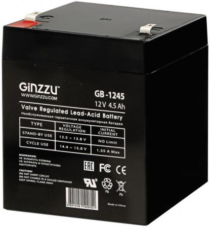 Батарея Ginzzu GB-1245 12V/4.5Ah батарея ginzzu gb 1245 12v 4 5ah