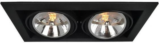 Встраиваемый светильник Arte Lamp Cardani A5935PL-2BK встраиваемый спот точечный светильник arte lamp cardani a5935pl 4bk
