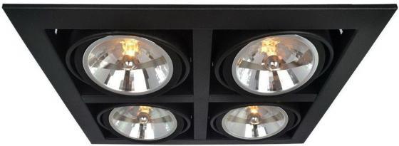 Встраиваемый светильник Arte Lamp Cardani A5935PL-4BK встраиваемый спот точечный светильник arte lamp cardani a5935pl 4bk